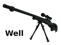 WELL MB-10 Spring Sniper Rifle with Scope and Butt (Black)