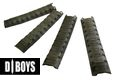 DBOYS Polymer 20mm RIS Sectional Armor Rail Cover 4pcs Set - OD