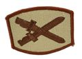 EAIMING Double Sword Patch (Embroidery/Sticker) -Tan