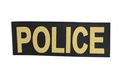 NOB 215mm x 75mm POLICE Patch- Black & Gold (Velcro)