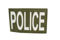 NOB 120mm x 80mm POLICE Patch Olive Drab (Velcro)